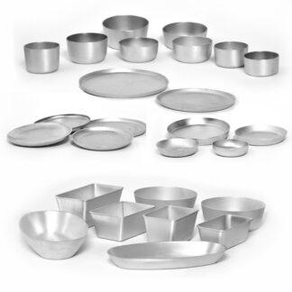 Формы для выпечки из алюминия и кухонные принадлежности